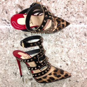CHRISTIAN LOUBOUTIN Tchicaboum 100 spiked pumps